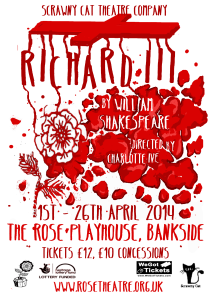 kitchner, Richard III, Fringe Theatre, Theatre London, The Rose Playhouse, Shakespeare, Theatre Heritage, Richard III Society, London Heritage site